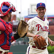Cliff Lee and Wil Nieves Art Print