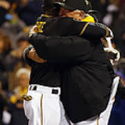 Clint Hurdle and Starling Marte Art Print