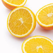 Close-up of sliced oranges Art Print