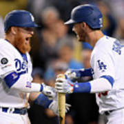 Cody Bellinger and Justin Turner Art Print