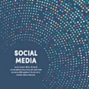 Colorful Circular Motion Illustration For Social Media Art Print