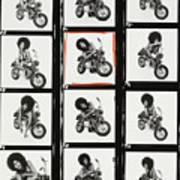 Contact Sheet of Marsha Hunt with a Motorbike Art Print