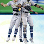 Corey Dickerson, Starling Marte, and Gregory Polanco Art Print