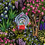 Cozy Garden Reading Room I Art Print