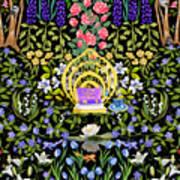 Cozy Garden Reading Room II Art Print