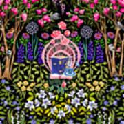 Cozy Garden Reading Room IV Art Print