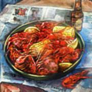 Crawfish Celebration Art Print