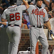 Dan Uggla and Chipper Jones Art Print
