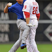 Darwin Barney and Chase Utley Art Print