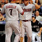 David Peralta, Welington Castillo, and Kyle Kendrick Art Print