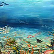 Deep Blue Dreaming Art Print