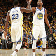 Draymond Green and Kevin Durant Art Print