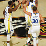 Draymond Green, Stephen Curry, and Kevin Durant Art Print