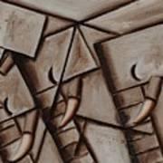 ATommervik bstract Elephant Herd Geometric Animal  Wall Art Print Art Print
