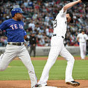 Elvis Andrus and Chris Sale Art Print