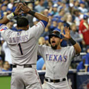 Elvis Andrus and Rougned Odor Art Print