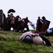 Enthusiasts Re-enact Roman Times At Hadrian's Wall Art Print