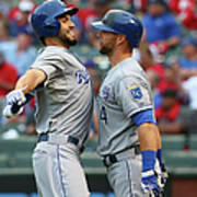 Eric Hosmer and Alex Gordon Art Print