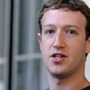 Facebook CEO Mark Zuckerberg Visits Computer Science Students At Harvard And MIT Art Print