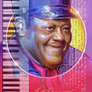 A Portrait of Fats Domino Art Print