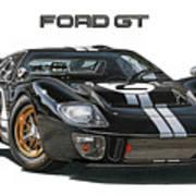 Ford Gt40 Mkii Art Print