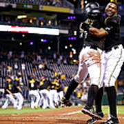 Francisco Cervelli and Gregory Polanco Art Print