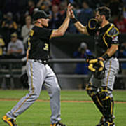 Francisco Cervelli and Mark Melancon Art Print