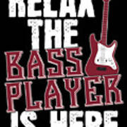 Guitar Guitarist Band Gift Kids T-Shirt Relax The Bass Player Is Here