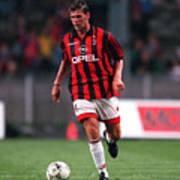 FUSSBALL: italienische Liga 97/98 AC MAILAND 28.07.97 Art Print