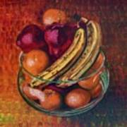 Glass Bowl Of Fruit Art Print