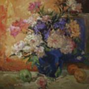 Golden Peonies Art Print