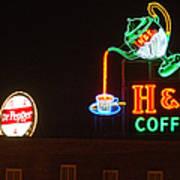 H and C Coffee Sign Roanoke Virginia Art Print