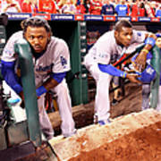 Hanley Ramirez and Yasiel Puig Art Print
