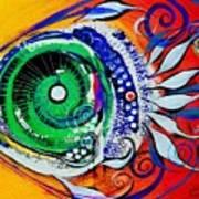 Happy Fish Compliments Transcending Time Art Print