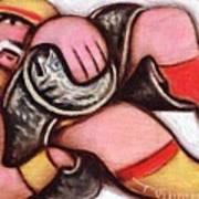 Hulk Hoga Showing Off His Belt Art Print Art Print