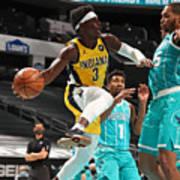 Indiana Pacers v Charlotte Hornets Art Print