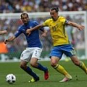 Italy v Sweden - Euro 2016 Art Print