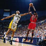 Jalen Rose and Michael Jordan Art Print