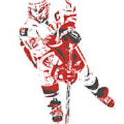 Jarome Iginla Calgary Flames Watercolor Strokes Pixel Art 3 Mixed Media By Joe Hamilton