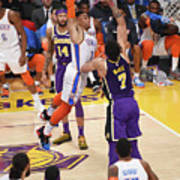 Javale Mcgee and Russell Westbrook Art Print