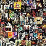 Jimi Hendrix Collage Art Print