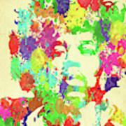 Jimi Hendrix Watercolor Art Print