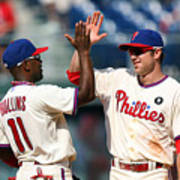 Jimmy Rollins and Chase Utley Art Print