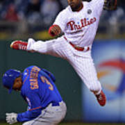 Jimmy Rollins and Curtis Granderson Art Print