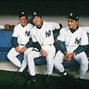 Joe Torre, Derek Jeter, and Don Zimmer Art Print