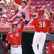 Joey Votto and Wade Davis Art Print