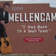 John Mellencamp Mural - Seymour, Indiana Art Print