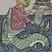 Jonah and The Sea Monster Art Print