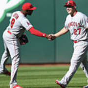 Justin Upton and Mike Trout Art Print