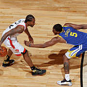 Kawhi Leonard and Kevon Looney Art Print